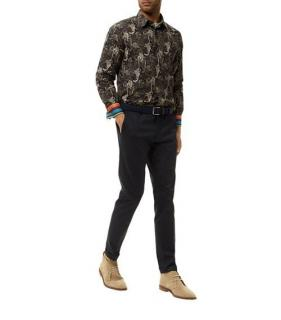 Paul Smith monkey-print cotton shirt
