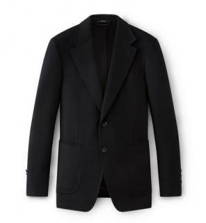 Tom Ford Black Wool Shelton Coat