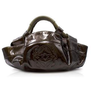 Loewe patent leather top-handle bag