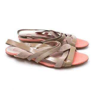 Chloe Beige Strappy Sandals