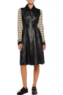 Acne Studios 'Levice' Leather Pleated Dress