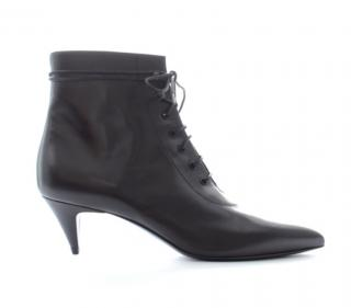 Saint Laurent Cat 50 Lace Up Leather Boots