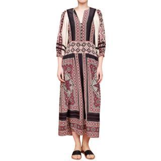 Sea New York Ezri Midi Silk Dress