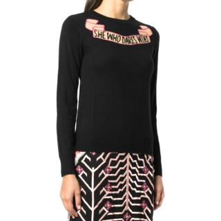 Temperley 'She Who Dares Wins' Wool Sweater - Current Season