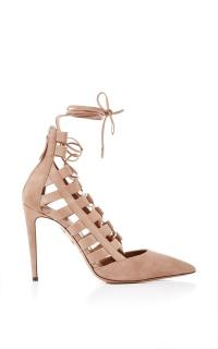 Aquazzura Amazon 105 Suede Pumps