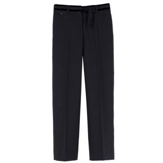 Prada pinstriped wool-blend trousers