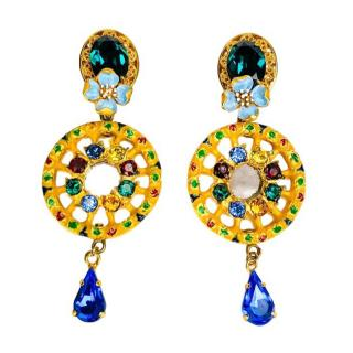 Dolce & Gabbana Sicily Caretto Crystals Earrings