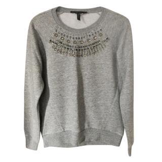 Bcbg maxazria crystal embellished sweatshirt