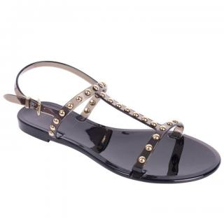 Givenchy black studded rubber sandals