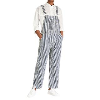 Rag & Bone denim striped dungarees