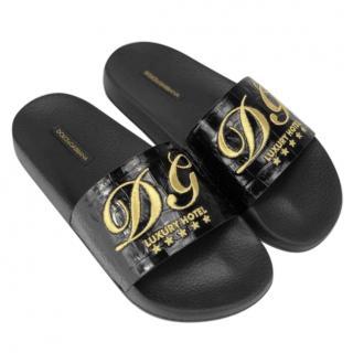 Dolce & Gabbana black 'luxury hotel'� slides