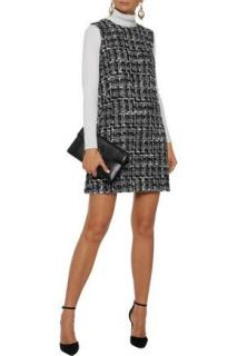 Dolce & Gabbana Wool-blend boucle-tweed mini dress