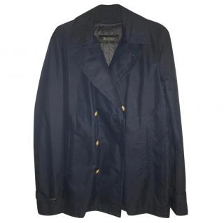 Gucci Navy Double Breasted Over Coat