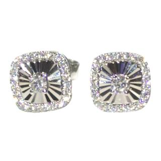 Bespoke Diamond Stud Earrings 18ct White Gold