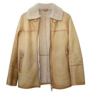Prada Shearling Camel Jacket