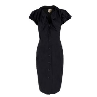 Vivienne Westwood black poplin button-down dress