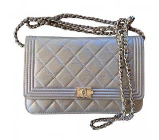Chanel Silver Boy WOC