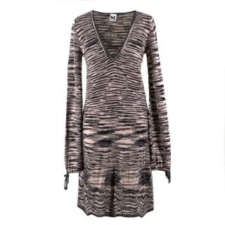 M Missioni long-sleeved knitted dress