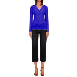 Gianni Versace Medusa button ribbed-knit top
