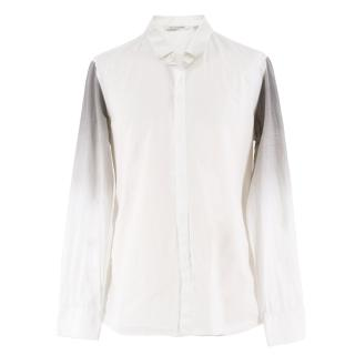 Neil Barrett gradient-sleeved cotton-poplin shirt