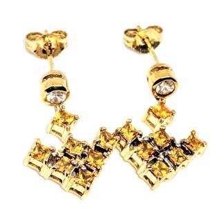 Madagascar Sapphire Drop Earrings