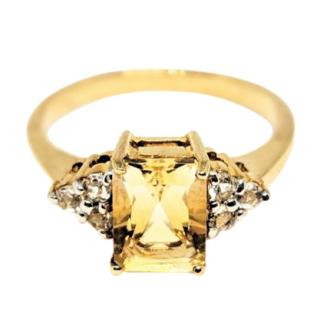Bespoke Citrine and Topaz Gold Ring