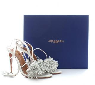Aquazzura 'Wild Thing 105' Fringed Leather Sandals