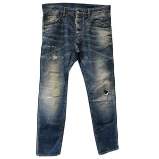 Dsquared mens hawaii denim jeans