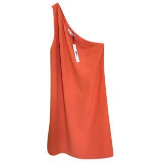 Sass & bide one shoulder tangerine dress