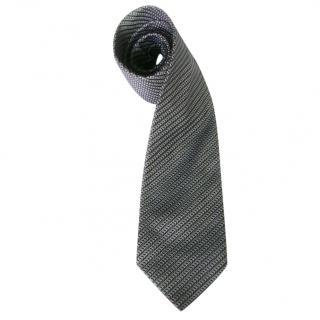 Brioni Carmel and Blue Silk Neck Tie