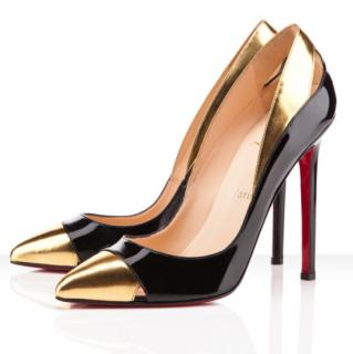 Christian Louboutin Duvette 120 Metallic And Patent-Leather Pumps