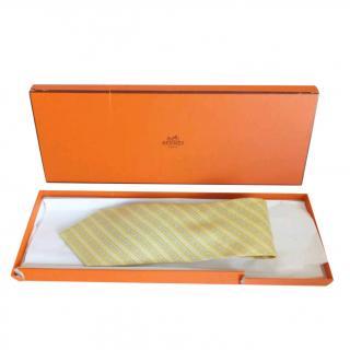 Hermes Spur print silk tie