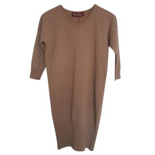 Max Mara Camel Knit jumper Dress
