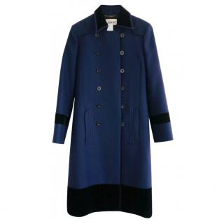 Chloe Collector's AW05 Navy Wool Blend Military Riding Coat