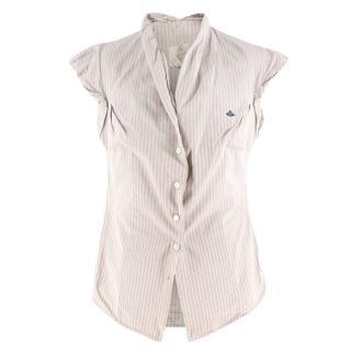 Vintage Vivienne Westwood striped short-sleeved shirt