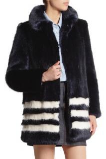 Shrimps Dulcie Striped Faux Fur Coat