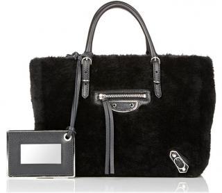 Balenciaga Shearling Papier Bag