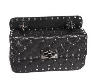 Valentino Small Rockstud Spike Swarovski Crackled Leather bag
