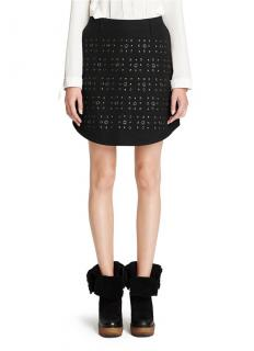 Coach Black A-line Eyelet Skirt