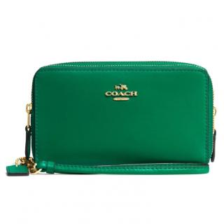 Coach Green Leather Purse