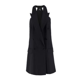 McQ Alexander McQueen Wool Sleeveless Tuxedo Dress