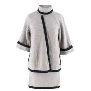 Chanel wool & cashmere two piece skirt & top