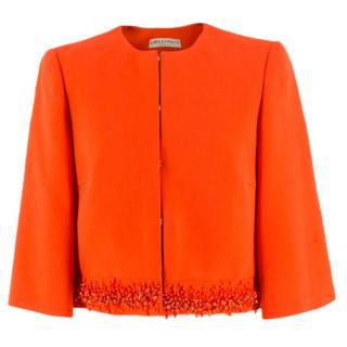 Emilio Pucci embellished-hem wool-blend jacket