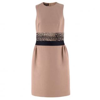 Giambattista Valli contrast-waist wool-blend dress