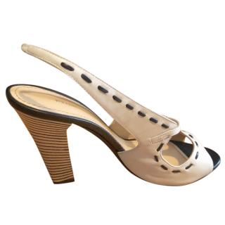 Pollini veal peep toe sandals