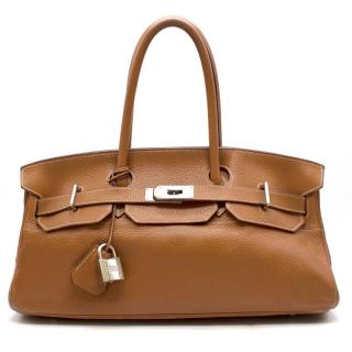 Hermes 42cm Caramel Togo Leather Shoulder Birkin