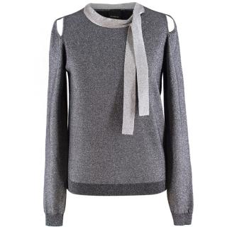 Pinko Metallic Knit Sweater