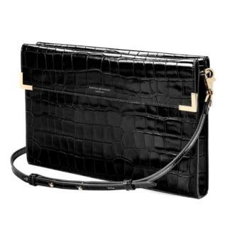 Aspinal of London Bordeaux Croc Leather Bag