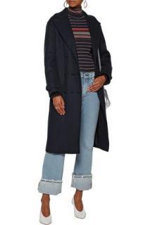 Sandro comone oversized wool coat