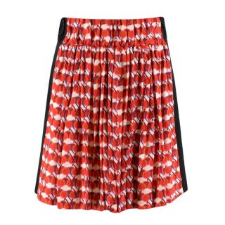 Sonia by Sonia Rykiel cherry-print silk crepe skirt